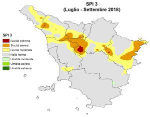 Situazione siccità Settembre 2018