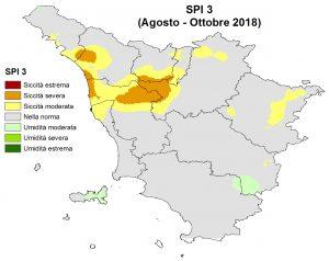 Situazione siccità Ottobre 2018