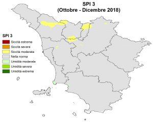 Situazione siccità Dicembre 2018