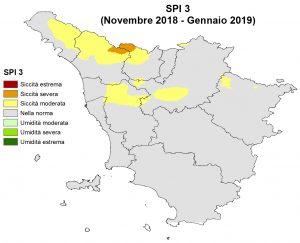Situazione siccità Gennaio 2019