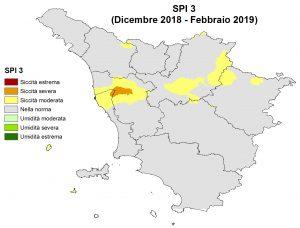 Situazione siccità Febbraio 2019