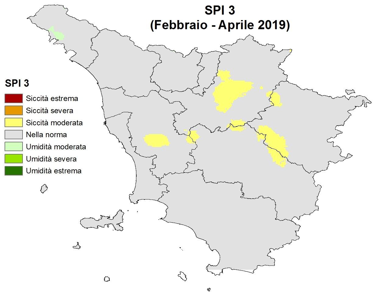 Situazione siccità Aprile 2019
