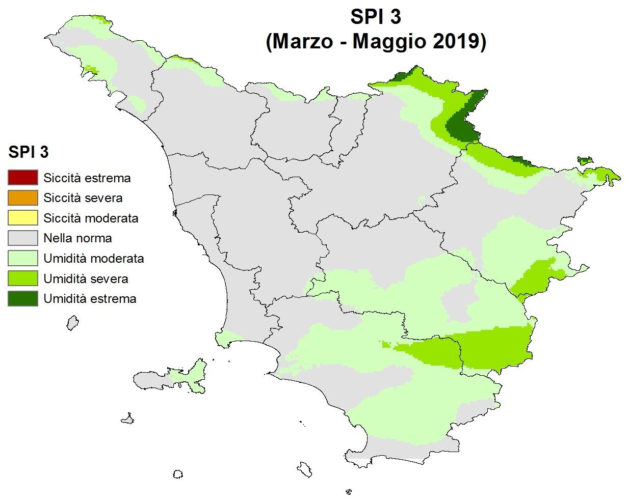 Situazione siccità Maggio 2019
