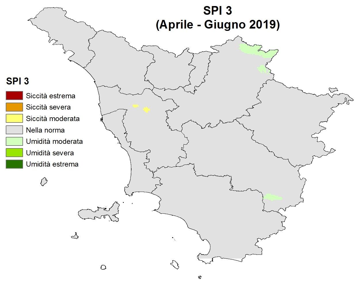 Situazione siccità Giugno 2019