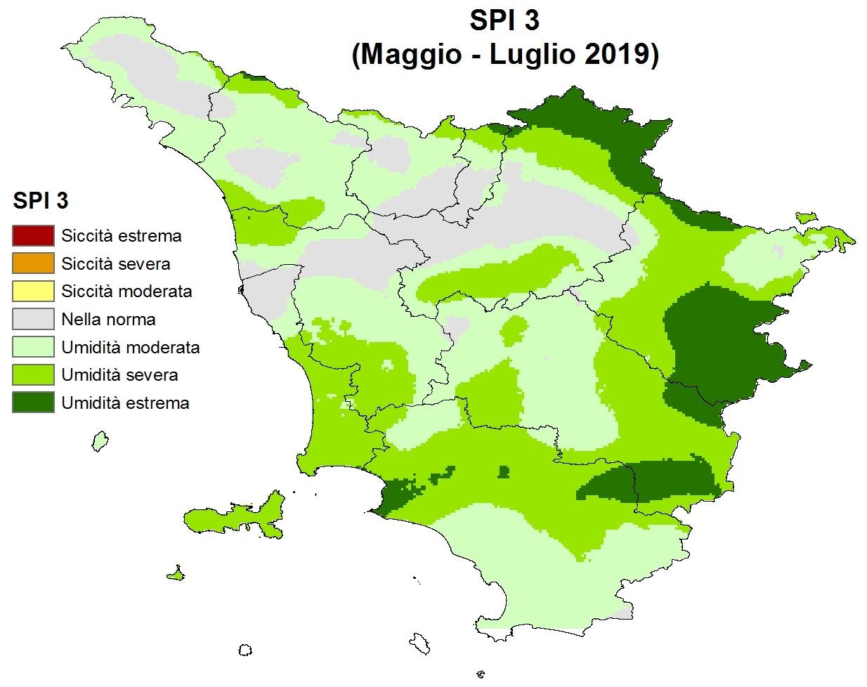 Situazione siccità Luglio 2019